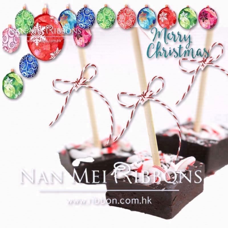 Christmas Snack Decoration Idea 1.5mm Double Colors Mix Paper Raffia Twine Ribbon Chocolate Candy
