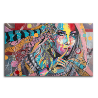 Abtract Oil Painting Printed on Canvas Home Wall Decoration American Indian Photography Printing Stretched Canvas Art Decoration