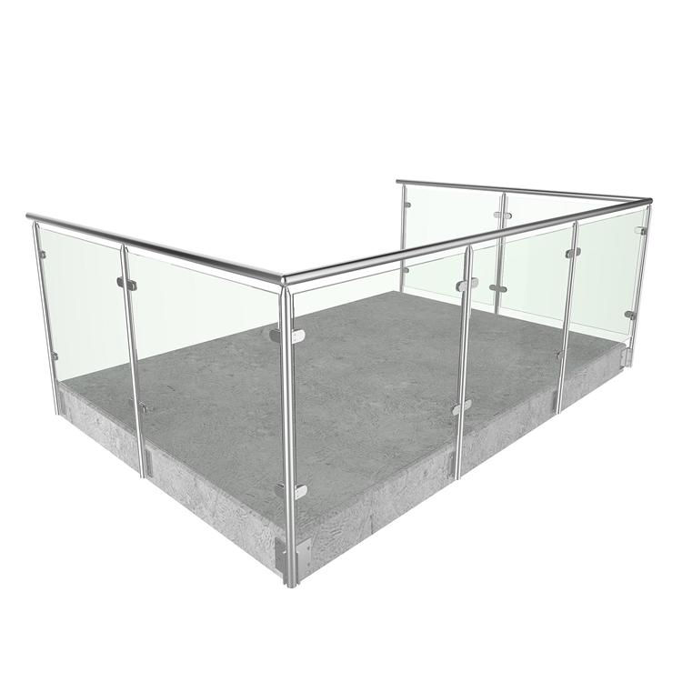 Diseño Personalizado Balcón Barandilla De Vidrio De Diseño