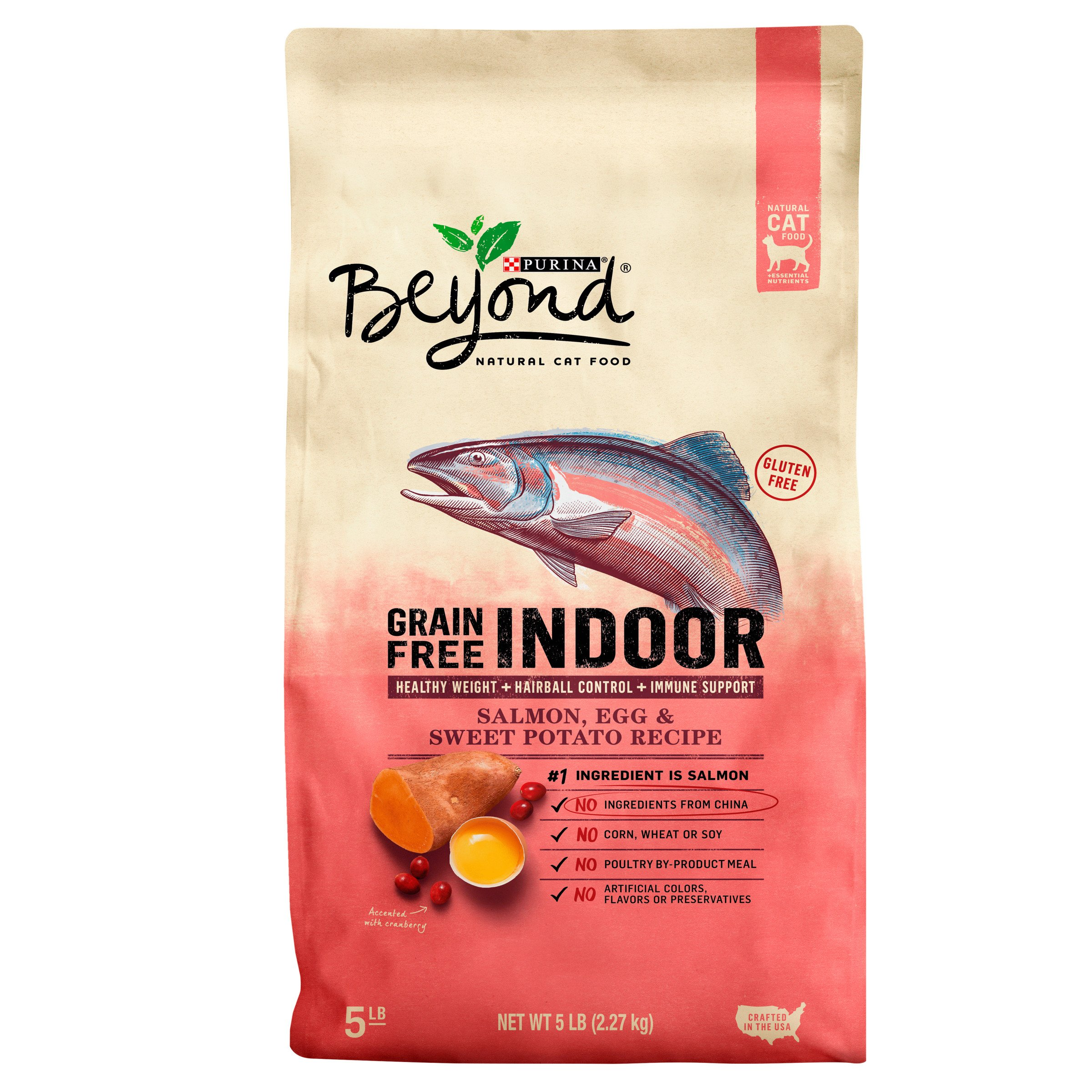 Purina Beyond Indoor Grain Free Salmon, Egg & Sweet Potato Recipe Adult Dry Cat Food