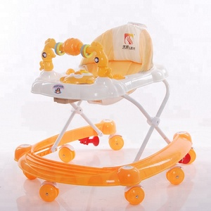 China cheap rolling baby walker price wholesale baby walker with 7 wheels