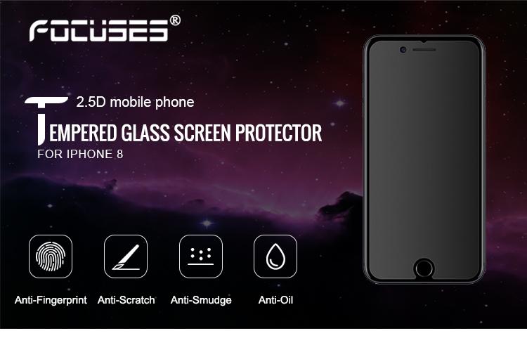 e542c3d22ce Para iPhone 8 0,33mm la cobertura completa Anti-huella dactilar Protector  de pantalla