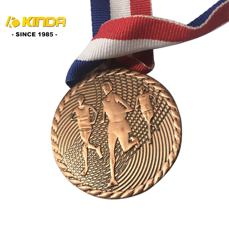 चीन कारखाने प्रत्यक्ष बिक्री कस्टम धातु स्मारिका सोने मैट मैराथन पदक रिक्त