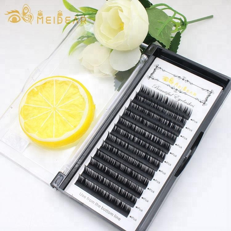 Wholesale individual lashes 0.05-0.30 mm, 6-18 mm length mink private label eyelash extensions
