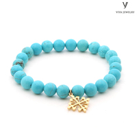turquoise natural stone beads bracelet high end jewelry