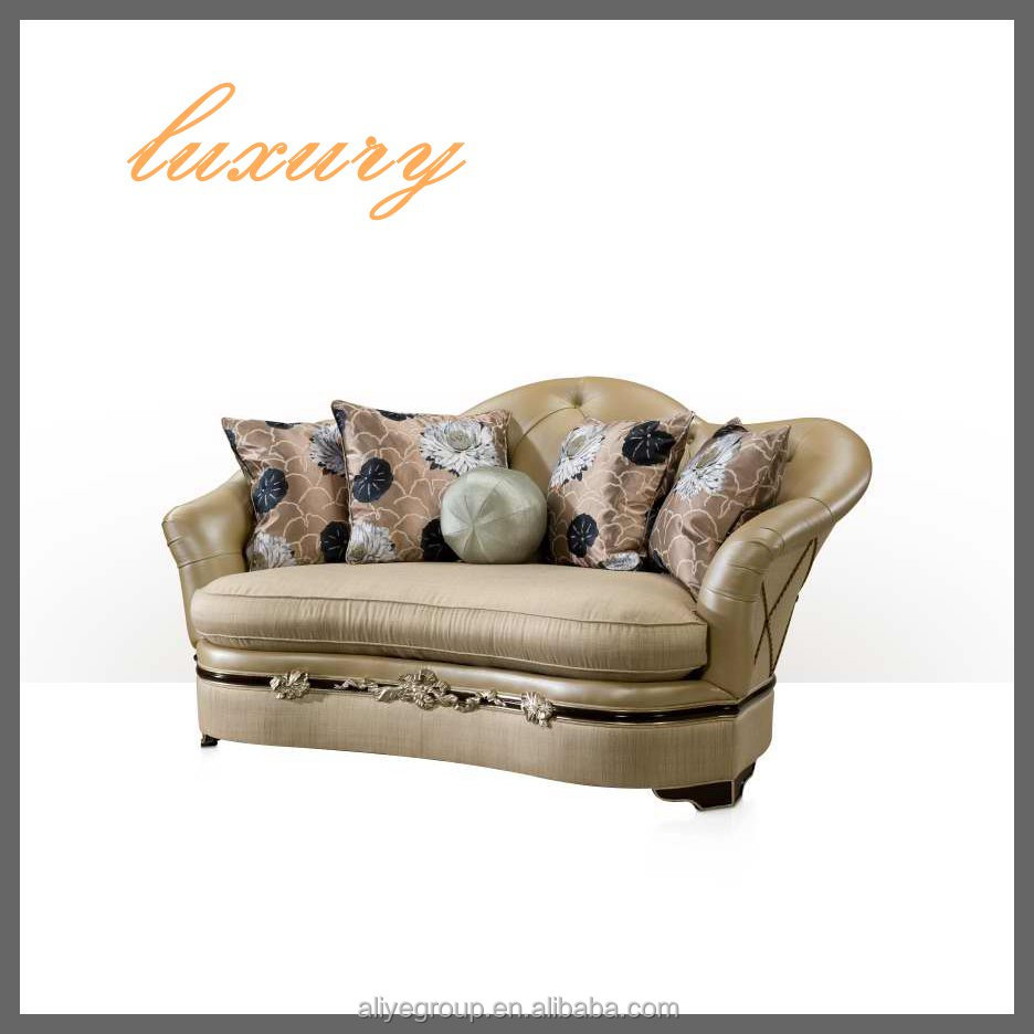 POPULAR wood furniture design luxury royal sofa sets KS67-2