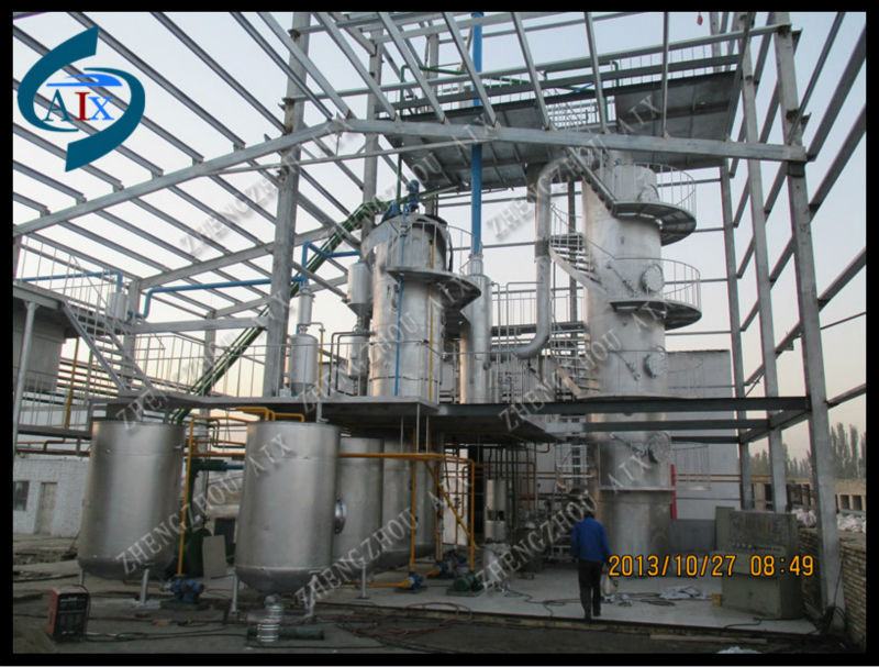 High quality crude oil refinery equipment/palm oil refinery machine/edible oil refinery machinery with low price
