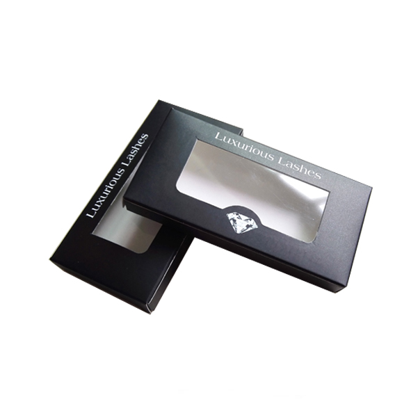 Private label false eyelash packaging with PVC window custom eyelash packaging boxes