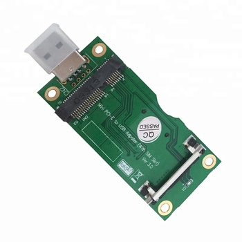 Mini PCI-E to USB Adapter for WWAN/LTE Module with 8Pin SIM Card Slot