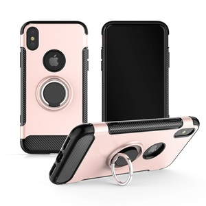 Free Sample Best Quality Shockproof Bulk Rock Ring Holder Stand Cell Phone Case For iPhone 10 X