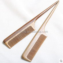 Salon Hair Equipment Long Handle Sandalwood Fine Tooth Comb