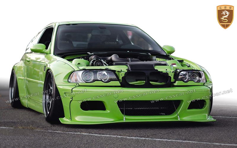 Rocket bunny style wide body kit for bm-w M3 e36/e46 in frp