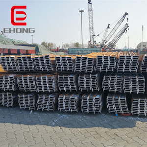 welded Shaped steel beams used for construction / Iron H beam