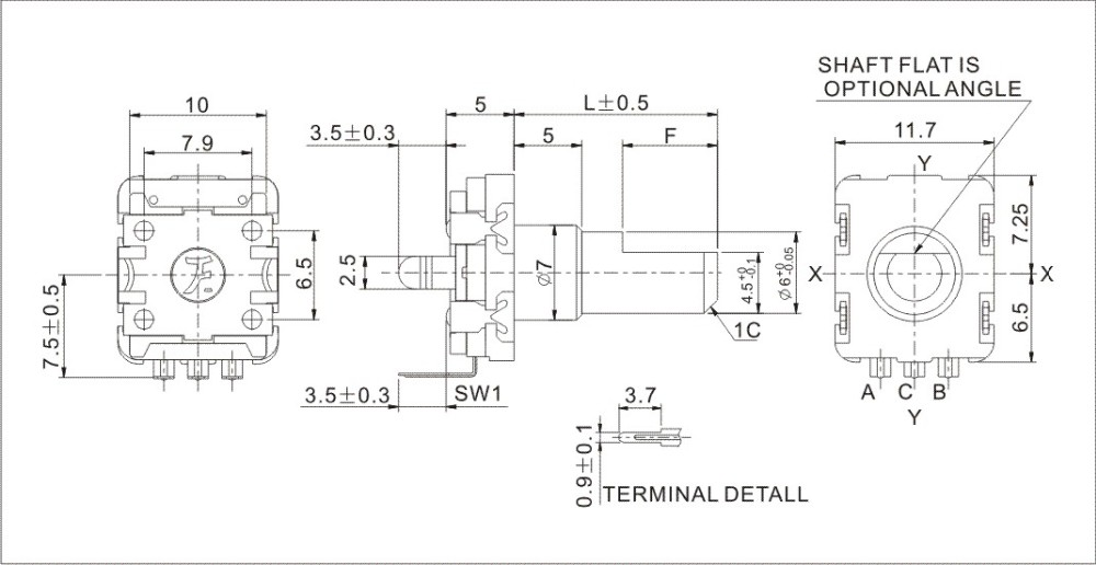 F11e Series Rotary Shaft Encoder Incremental Type High Accuracy