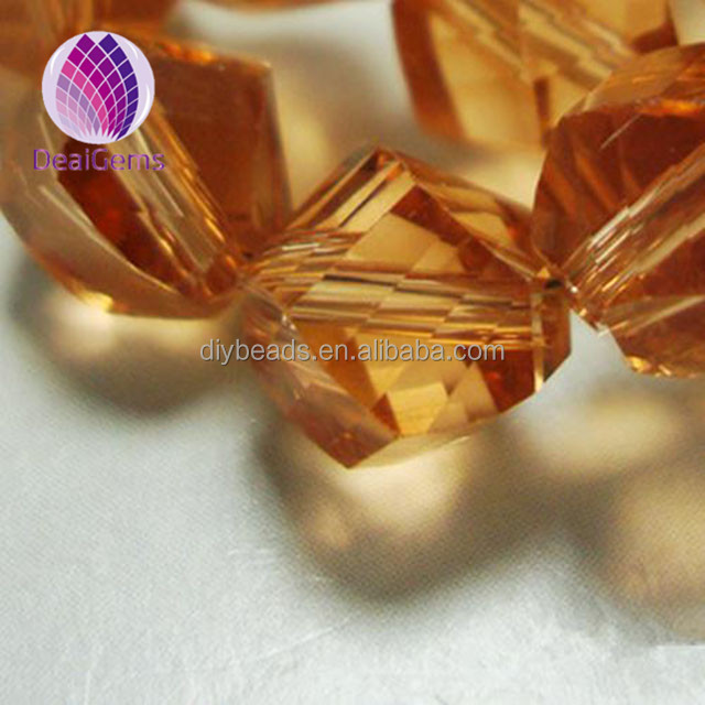 Smoking color china glass crystal rondelle beads 10mm