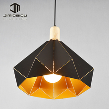 Loft Industry Retro Restaurant Decoration Splicing Fan Shade Kitchen Modern Rustic Pendant Light Chandelier Lamp