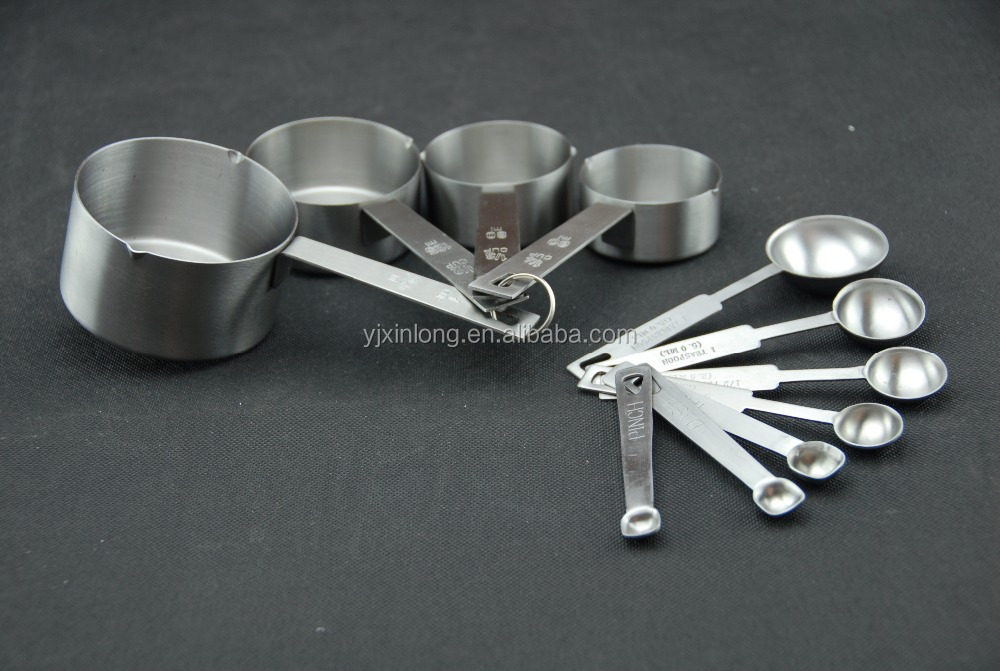 Stainless Steel Measuring Cup & Spoons