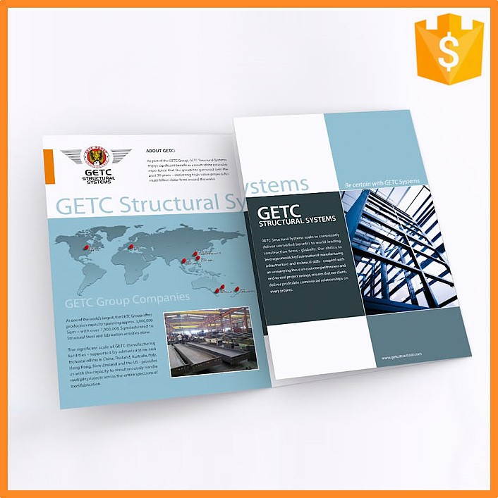 High Quality Custom Glossy Samples Leaflet with Fast Delivery