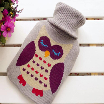 Szplfr Owl Pattern Knitted Hot Water Bottle Cover Buy Knitted