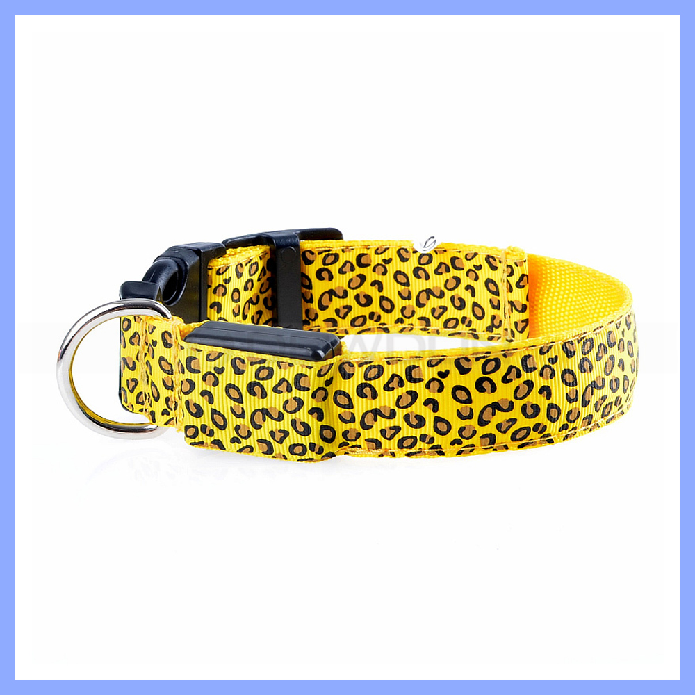 Fashion Leopard Print LED Pet Dog Collar