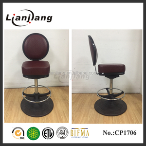high grade micro-fiber leather swivel and adjustable slot machine seating