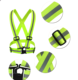 Reflective High Visibility Safety Running Belt Vest