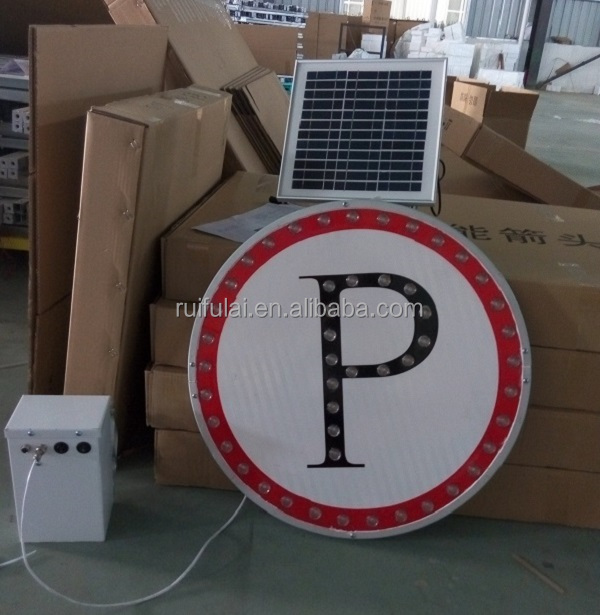 New design good warning effect solar powered led traffic road sign