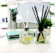 desk ornament 120ml essential oil reed aroma diffuser set with rattan sticks
