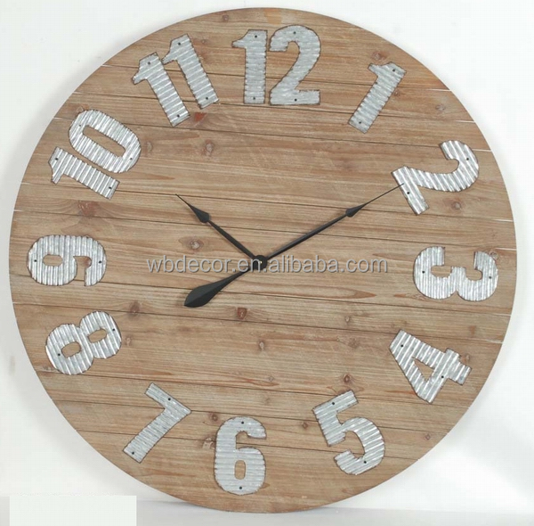 Wood Clock Wall Art Collection