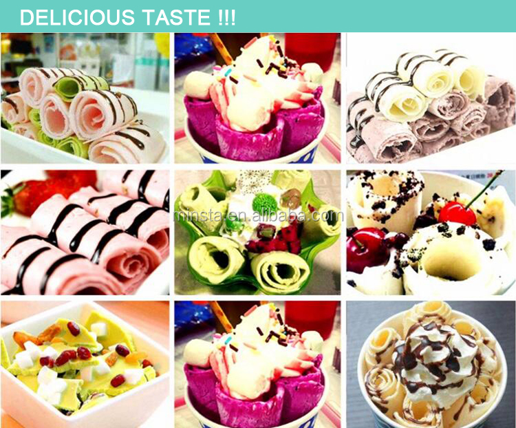 single pan fried ice cream machine fried ice cream roll machine thailand fry ice cream machine