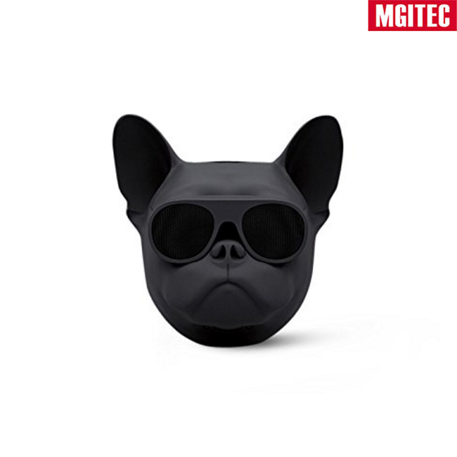 Hot New Wholesale Dog Head Portable Wireless Bluetooth 4.1 Bulldog Speaker with HD Audio and Enhanced Bass