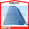 Curtain wall in aluminum profile,reflective glass