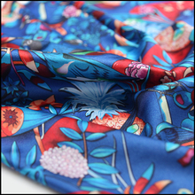 Digital Printed 16mm Elasticity Satin Silk Fabric For Lady Garment