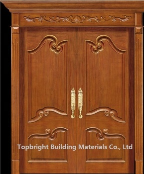 Simple Exterior Teak Wood Double Entry Soundproof Door Design View Teak Wood Double Entry Door Doorwin Product Details From Guangzhou Topbright