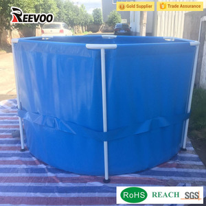 Reevoo aquaculture tank plastic fish farm portable pvc koi fish ponds