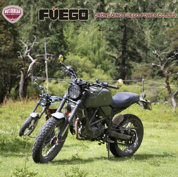 CAFE TRACKER Racer 250cc Oil Cooling 6Gears Motorcycle Scrambler