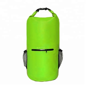 PVC Material Waterproof Tarpaulin Dry Bag Backpack with Meshes for Travelling Hiking Floating