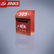 Apartment Mailboxes Wall Mounted Metal Red Post Box