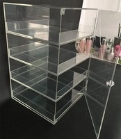 Clear acrylic bread display stands rack cake display cabinet