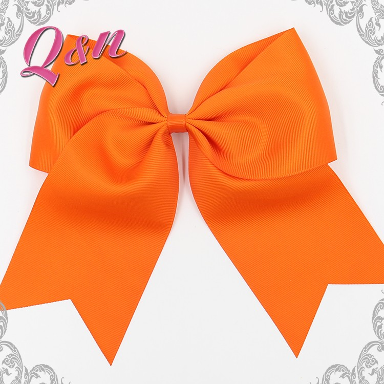 Wholesale Cheer Hair Accessories orange Boutique Girls Hair Clips Bows