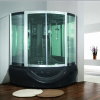 Sanitary Comfortable and Leisure Design Steam Shower Room with Bathtub (M-8214)