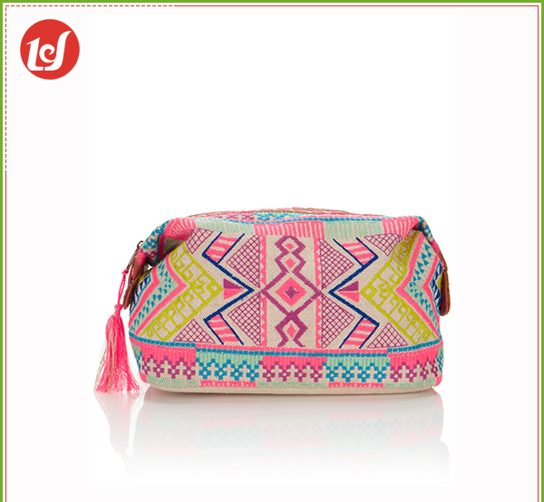 Hmong Flower Embroidered Cosmetic Bag