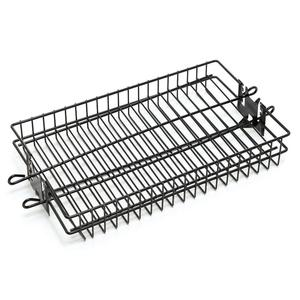 Non Stick Coating Flat Spit Rotisserie Grill Basket