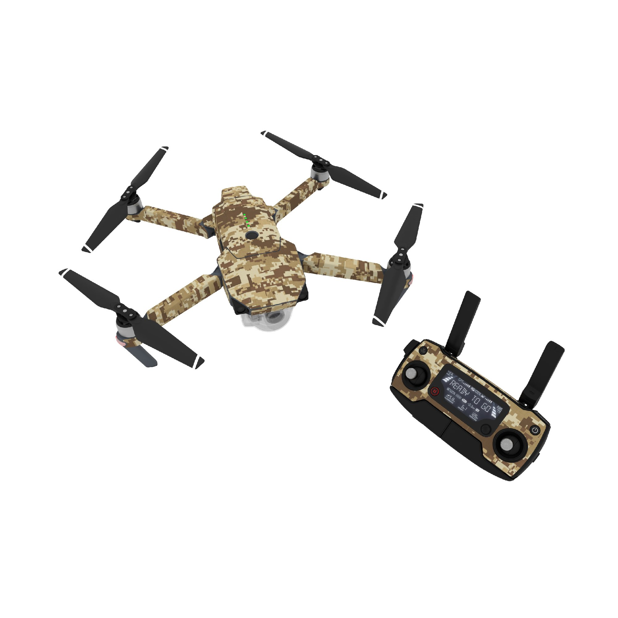 c64b74e540e Get Quotations · Coyote Camo Decal for drone DJI Mavic Pro Kit - Includes  Drone Skin, Controller Skin