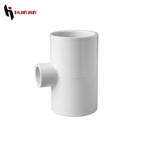JH0458 upvc reducing tee pvc male female tee pvc socket tee