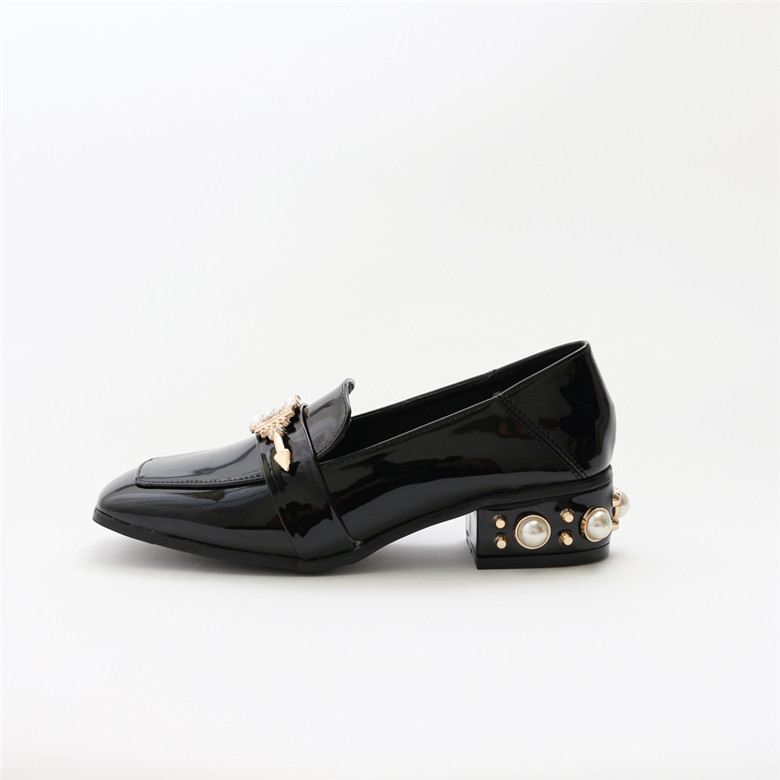 patent Heel with Shoes Oxford Pearl women OEM Women shoes leather Flat custom Leather casual ladies qwBTXWdP