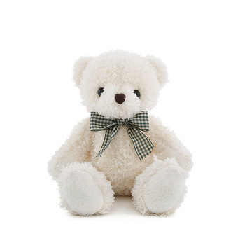 wholesale customized cute small size soft teddy bear with silk ribbon bouquet mini stuffed bear lovely 18 CM plush toys