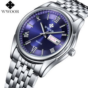 3 ATM water resistant Stainless Steel Luminous Hour Clock Male Casual Quartz Watch Men business Wristwatch
