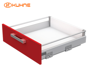 Soft Close Slim Tandem Box type Drawer slide for Kitchen
