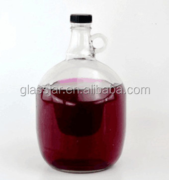 3L Huge California red wine glass bottle with handle